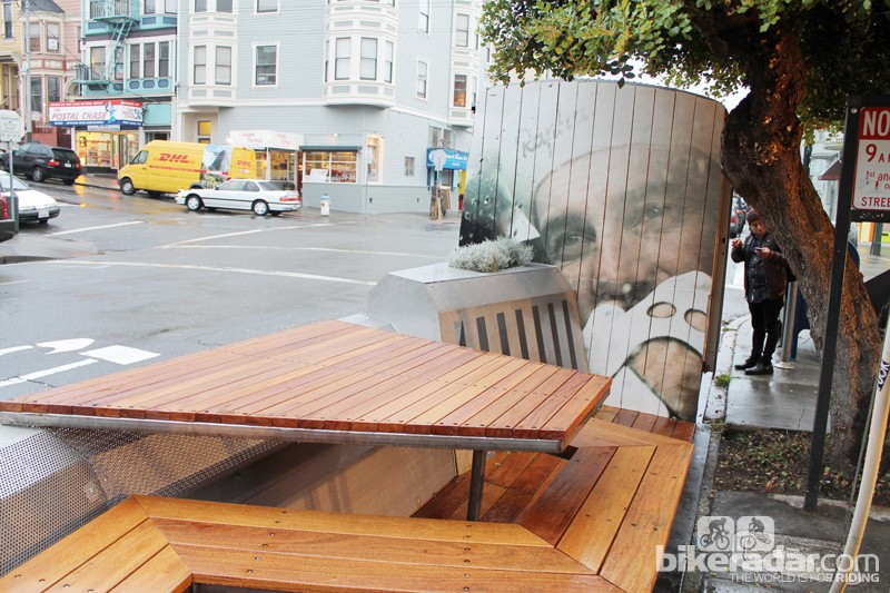The Rapha Cycle Club parklet