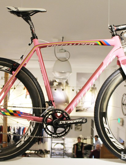 Currently up in the gallery is a Garrett Chow show, bicycle graphic designer for Specialized