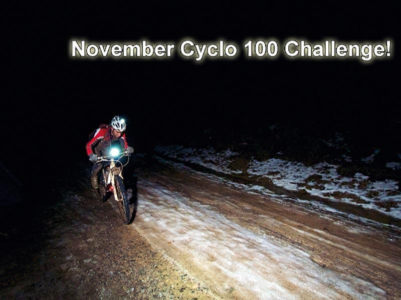 The November Cyclo 100 Challenge will run until 30 November, by which time you need to log 100 miles to be in with a chance of winning