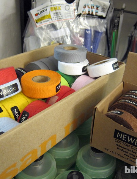 Few shops have cotton handlebar tape on hand at all, let alone multiple colors