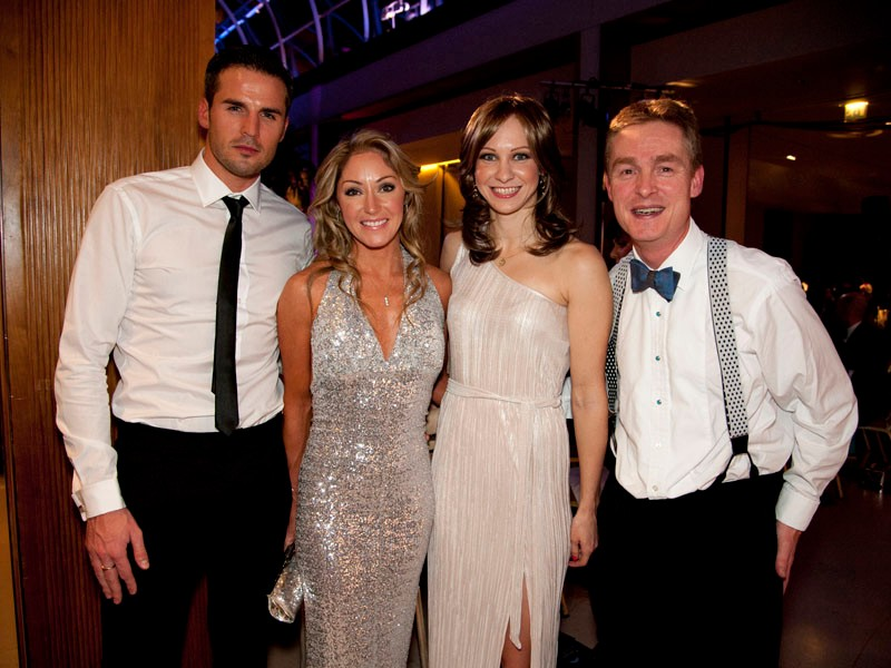 Left to right: Adam Ryan (Wiggle Marketing), Rochelle Gilmore, Joanna Rowsell, Humphrey Cobbold (Wiggle CEO)