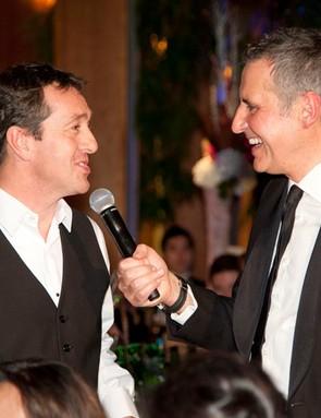 Sky TV's Dermot Murnaghan interviews Chris Boardman MBE