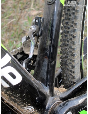 Cannondale includes SRAM's integrated chain catcher as standard equipment