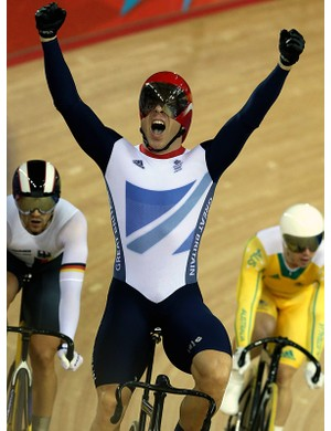 Sir Chris Hoy won two gold medals on the track at the Olympics, taking his Olympic haul to six