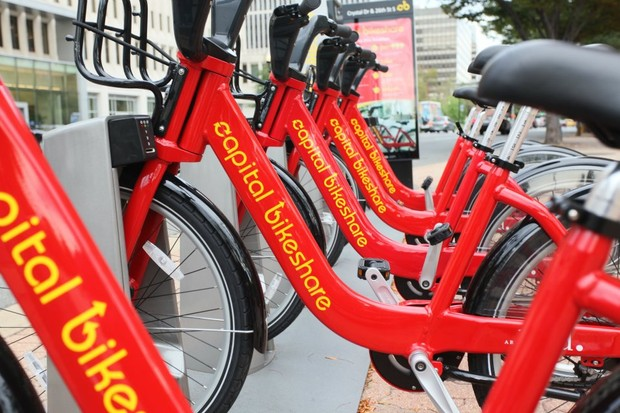 Capital Bikeshare has 175 stations in the Washington, DC area