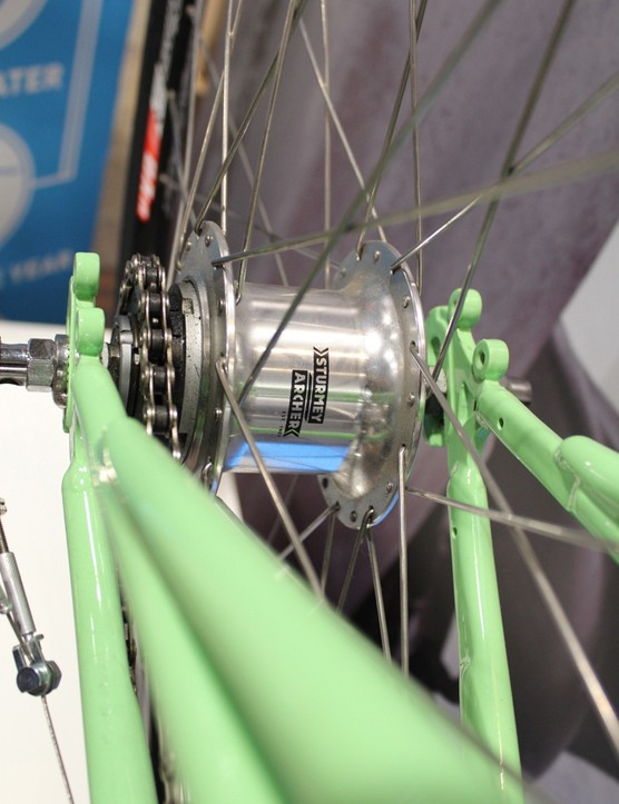 There are three bikes: a fixie/singlespeed, a men's 5-speed and a women's 5-speed