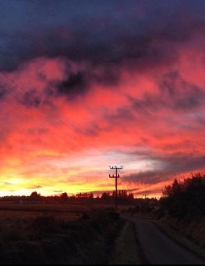 'October Dawn over Black Isle'