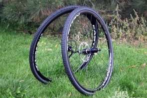 The Easton EA90 XD disc cyclocross wheelset isn't the lightest, at 1,605g per set, but they're supremely rigid and durable - perfect for everyday use and training