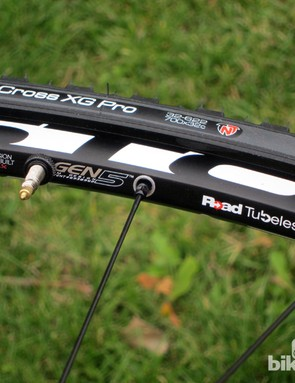 Unique double-threaded nipples simultaneously anchor themselves to the spoke and the riveted-in rim eyelets, leaving the outer rim wall solid for easier tubeless setup