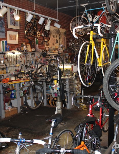Vecchio's is one of five bike shops on or nearby Pearl Street in downtown Boulder