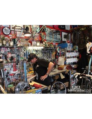 Master mechanic Jim Potter at his station