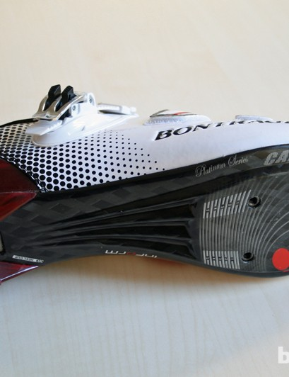 Large vents on the sole of the Bontrager RXXXL