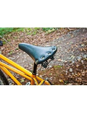 A coil sprung saddle – it's like the last 40 years never happened…