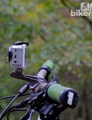 We used K-Edge GO BIG handlebar mounts for the cameras