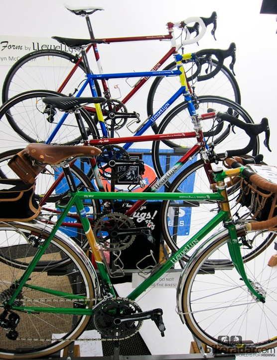 A variety of frames from Llewellyn Bicycles