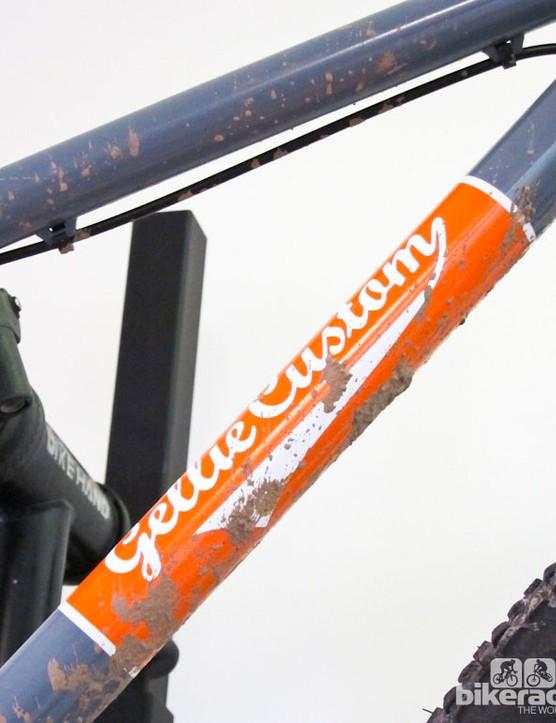 Ewan Gellie of Gellie Custom Bike Frames test rode his own creations before exhibiting