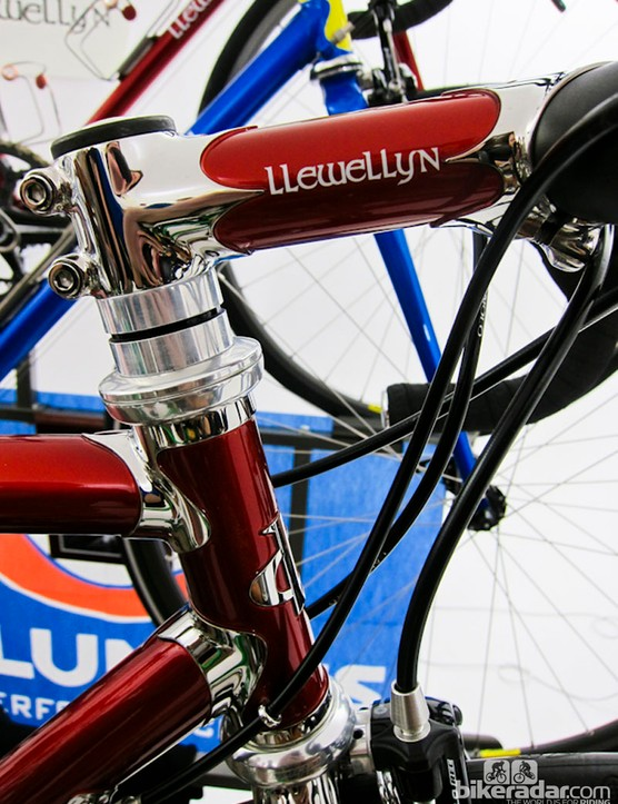 Handmade stems adorned a number of Llewellyn bikes