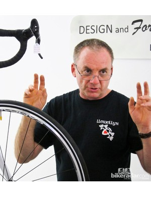 Darrell McCulloch was on hand to explain the intricacies of his Llewellyn frames