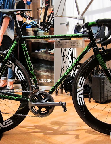 This eye-popping Kumo Cycles road bike was the first thing to catch people's attention upon entry