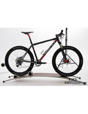 This 650b titanium mountain bike, by Baum, turned heads