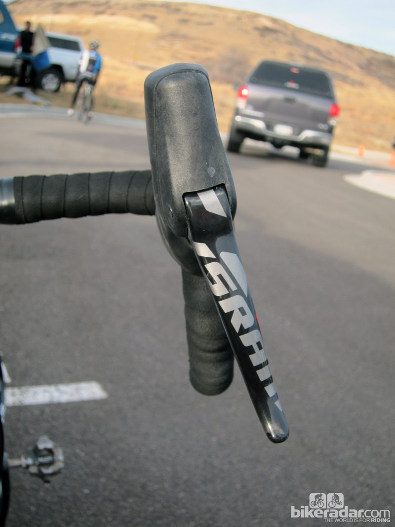 The new SRAM Red hydraulic brake levers have the same outward cant as the mechanical version