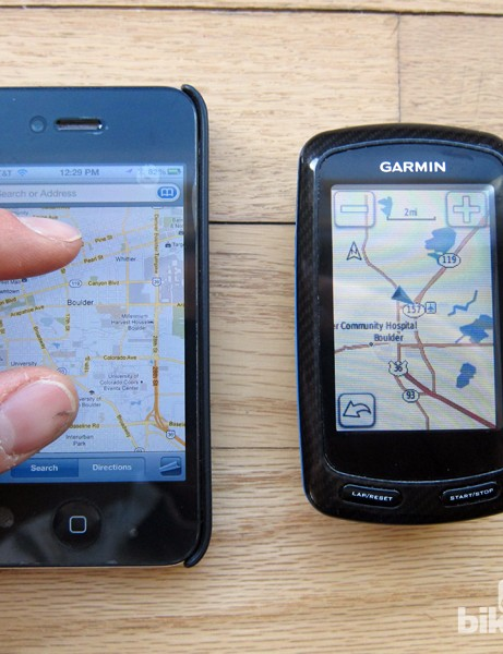 Another possibility for the new Garmin Edge 900 would be a more advanced multi-touch interface similar to the one used on Apple's iPhone and iPad