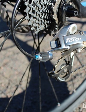 Blue ferrules and cable ends are just a few of the Fuji's matching details