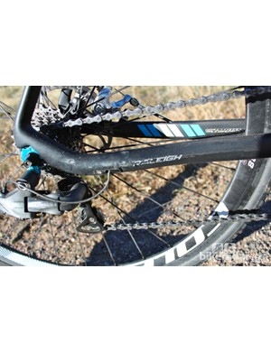 Reinforced to handle the braking, the chain stays provide great power transfer