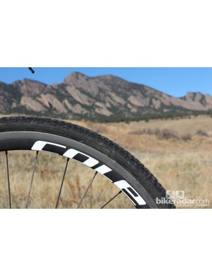 Cole's carbon clincher wheels are surprisingly heavy and narrow at the rim