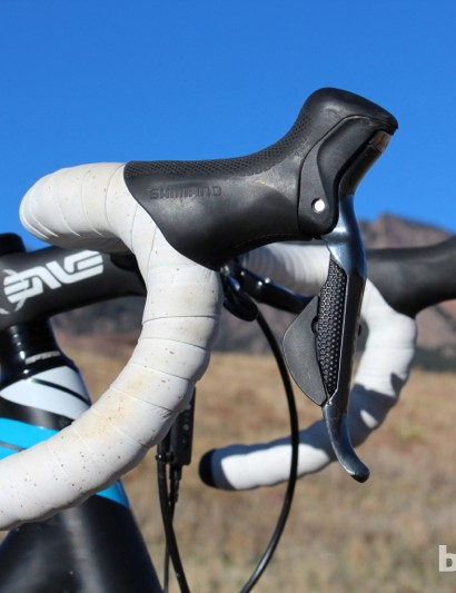 ENVE's compact carbon bar is a quality, high-end perch that works well for cyclocross, with its minimal drop and smooth transitions