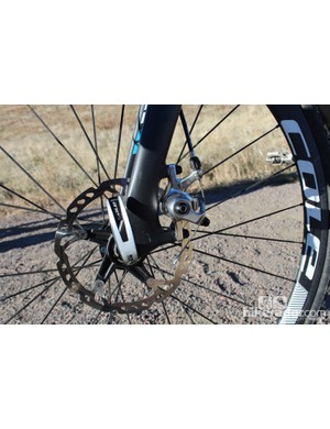 Our test bike had Hayes CX-5 calipers. The production bike will come with Avid BB7s