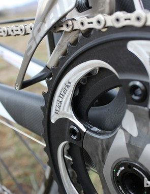 WickWerks chainrings are designed to work with SRAM's new Exogrid cranks. While other chainrings with a 110 BCD will work, the hidden-bolt design of the new crankset would put the drop pin in the wrong location