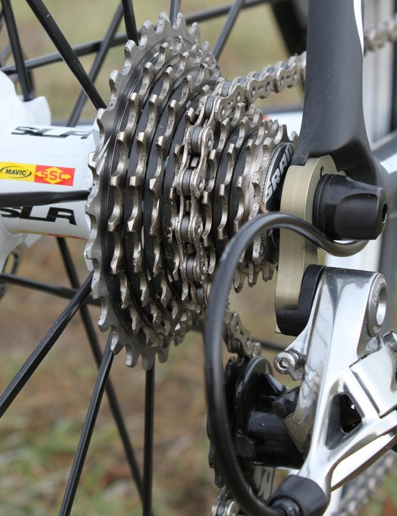 While light and precise, the SRAM Red cassette does a poor job of clearing mud and grass
