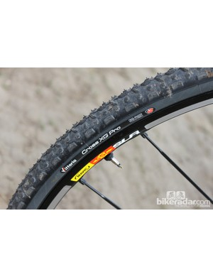 Vittoria's XG Pro Cross tires are tubeless compatible and have proven to be a good all-condition tire