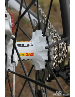 Mavic's Crossmax SLR 29 freehub uses a four-pawl design with 7.5 degrees of engagement