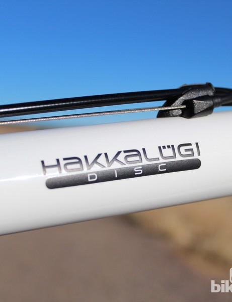 The Hakkalügi Disc features slightly more refined geometry than the current Hakkalügi with cantilever brakes, including a lowered bottom bracket and a shorter head tube