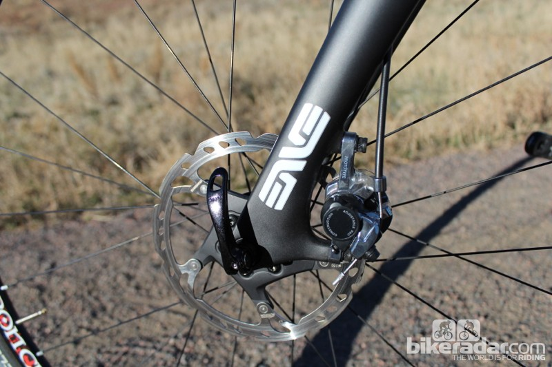 Although production models aren't yet available, the Hakkalügi Disc will come with Shimano's CX-75 calipers