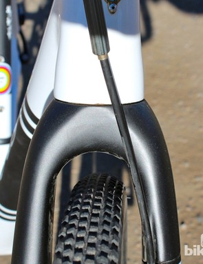 There's plenty of mud clearance on the ENVE fork, even with the relatively wide tire