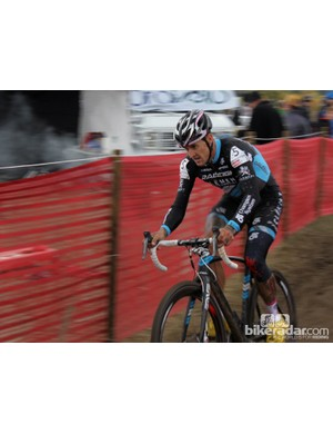 Ben Berden pushing the pace in a cyclocross race