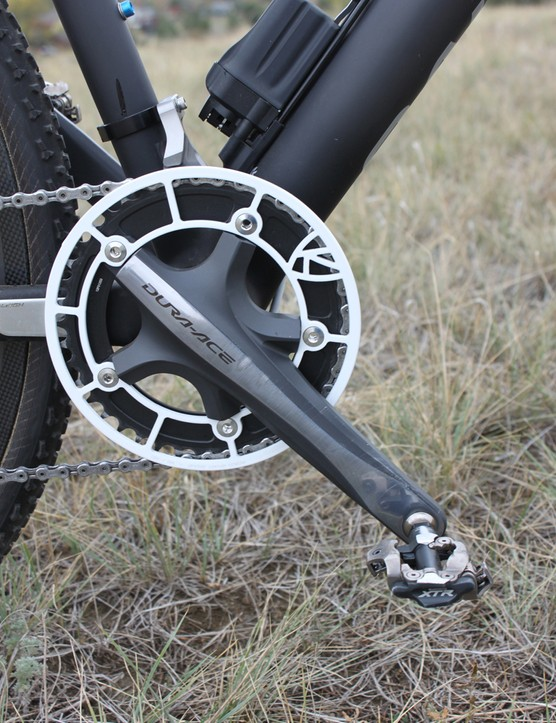 Up front, Berden runs a single 42-tooth FSA chainring on Dura-Ace 172.5mm crankarms