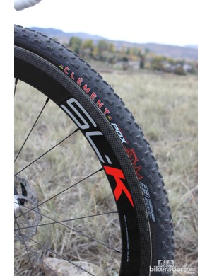 Berden was running Clement PDX tires on the front and rear for the muddy course BikeRadar watched him go round. He often pairs a front PDX with the fast-rolling LAS file tread in the rear for dry courses