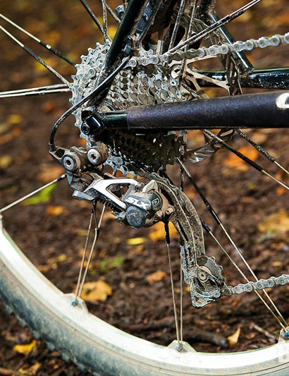 We opted for Shimano's durable and reliable 2x10 SLX transmission