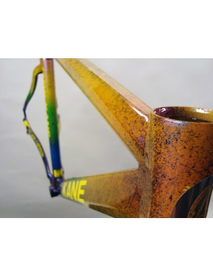 Jack Kane paints his own frames, but many riders send him existing frames to be redone