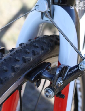 Front and rear brakes are Shimano's CX70 cantilevers