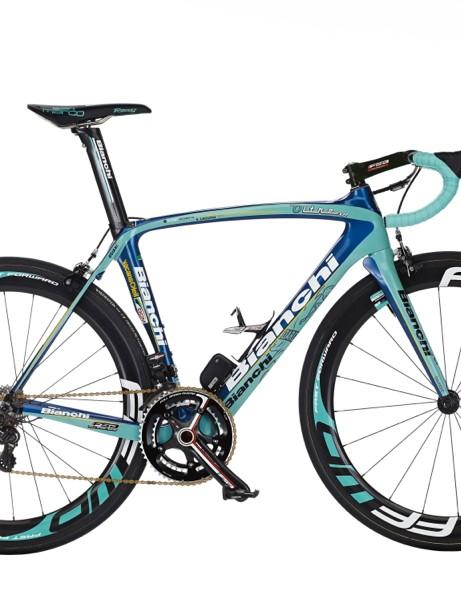 Bianchi's 2013 Vacansoleil-DCM team bike