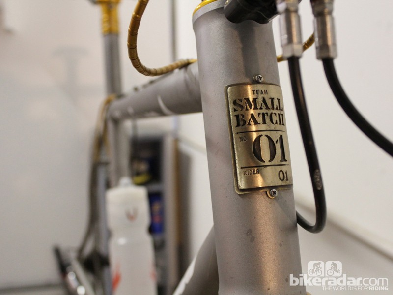 The Small Batch program was created for the Small Batch Cyclocross team — but every Mosaic frame is made in a small batch of one