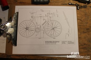 Each frame starts with an interview, often conducted via a bike shop. After careful consideration of a rider's fit, physiology and riding preferences, a detailed blueprint is drawn
