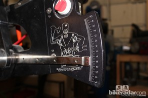 The Anvil Journeyman jig dials in each angle precisely. This one shown is for bottom bracket drop