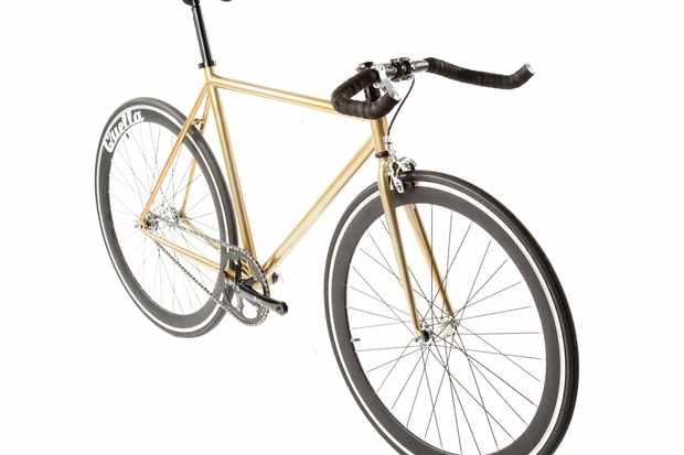 Quella One singlespeed/fixed gear bike - gold