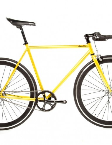 Quella One singlespeed/fixed gear bike -yellow